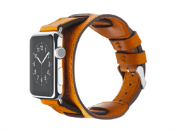 Ремешок Cozistyle Wide Leather Band for Apple Watch 42mm Light Brown - фото 71099
