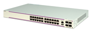 Коммутатор Alcatel-Lucent Ent Gigabit Ethernet standalone chassis in a 1U form factor with 24 10/100/1000 BaseT ports and 4 Gigabit SFP ports. The bundl e includes an internal AC power supply with European power cord, user manuals access card, hardware fo