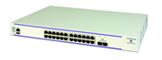 Коммутатор Alcatel-Lucent Ent Коммутатор OS6450-P24L Fast Ethernet 1RU chassis. 24 PoE 10/100 BaseT, 2 SFP+ 1G/10G ports, one expansion slot. Includes an internal 390W PoE PSU, EU power cord, user manuals access card, RJ-45 to DB-9 adaptor.