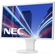 Монитор жидкокристаллический NEC Монитор LCD 23,8'' [16:9] 1920х1080 IPS, nonGLARE, 250cd/m2, H178°/V178°, 1000:1, 16,7M Color, 6ms, VGA, DVI, DP, Height adj., Pivot, Tilt, HAS, Speakers, Swivel, 3Y, White
