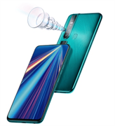 "Смартфон Tecno CD8 CAMON 15 pro Ice Jadeite, 6.6"", 2340 x 1080 пикселей, 2.0GHz, 4 Core, 6GB RAM, 128GB, up to 256GB flash, 48Mpix+5Mpix+2Mpix+QVGA/32Mpix, 2 Sim, 4G, BT v5.0, WiFi 802.11 b/g/n, GPS / AGPS, Micro-USB, 4000mAh, Android 10 (GO), 203g, 163,3"