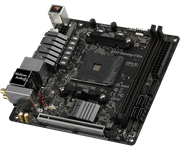 Плата материнская Asrock Asrock B450 GAMING-ITX/AC, AM4, AMD B450, Mini-ITX, BOX