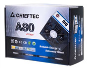Блок питания Chieftec Блок питания 750W A-80 ATX-12V V.2.3, PS-2 type, 12cm Fan, PFC, CabManag, Efficiency 85, 230V ONLY