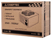 Блок питания Chieftec Блок питания 550W Smart ATX-12V V.2.3 12cm fan, Active PFC, Efficiency 80% with power cord