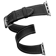 Ремешок Cozistyle Cozistyle Double tour leather watch band - Black
