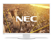 Монитор жидкокристаллический NEC Монитор LCD 24'' [16:10] 1920х1200(WUXGA) IPS, nonGLARE, 300cd/m2, H178°/V178°, 1000:1, 5000:1, 16.7M Color, 6ms, VGA, DVI, HDMI, DPin+out, USB-Hub, Height adj, Pivot, Tilt, HAS, Speakers, Swivel, 3Y, White